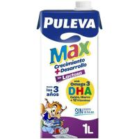 Leche Energia Max sin lactosa PULEVA, brik 1 litro