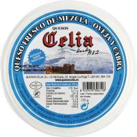 Queso fresco de oveja-cabra CELIA, tarrina 250 g