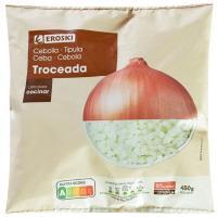 Cebolla troceada EROSKI, bolsa 450 g