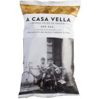 Patatas fritas a la sartén sin sal CASA VELLA, bolsa 150 g