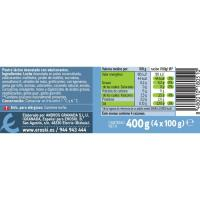 Flan de vainilla 0% m. g. sin azúcar EROSKI, pack 4x100 g