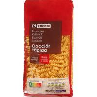 Espirales de cocción rápida EROSKI, paquete 500 g