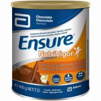 Complemento nutritivo de chocolate ENSURE Nutrivigor, lata 400 g