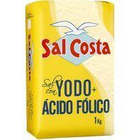 Sal marina con yodo-ácido fólico SAL COSTA, paquete 1 kg