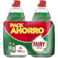 Lavavajillas concentrado regular FAIRY, pack 2x780 ml