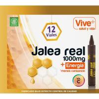 Jalea real adulto en ampollas VIVE+, caja 12 viales