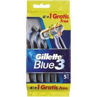 Maquinilla desechable GILLETTE Blue 3, pack 4+1 uds.