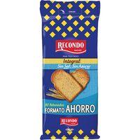 Pan tostado integral sin sal sin azúcar RECONDO, paquete 720 g