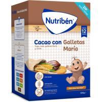 Papilla de cacao con galletas María NUTRIBEN, caja 500 g