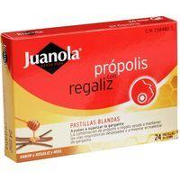 Pastillas de própolis-regalíz-miel JUANOLA, caja 24 unid.