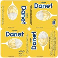 Natillas Doble Placer vainilla-nata DANONE Danet, pack 4x100 g