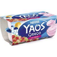 Yogur griego de fresa NESTLÉ, pack 4x120 g