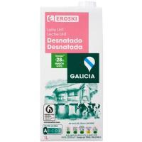 Leche desnatada de Galicia EROSKI, brik 1 litro