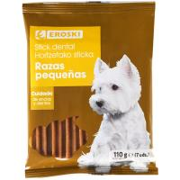 Hueso dental para perro razas pequeñas EROSKI, paquete 110 g