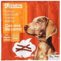 Barritas tiernas de ave para perro EROSKI, paquete 55 g