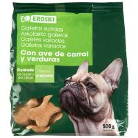 Galletas surtidas para perro EROSKI, paquete 500 g