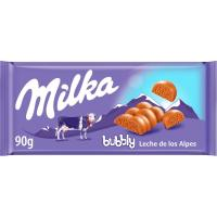 Chocolate con leche Bubbly MILKA, tableta 90 g