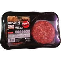Hamburguesa mixta BIKAIN, 4 unid., bandeja 480 g