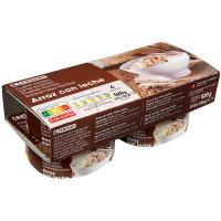 Arroz con leche EROSKI, pack 4x130 g
