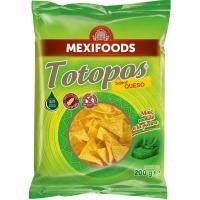 Totopos de queso MEXIFOODS, bolsa 200 g