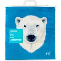 Bolsa isotérmica 25 litros EROSKI, pack 1 unid.