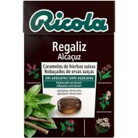 Caramelos sin azúcar de regalíz RICOLA, bolsa 50 g