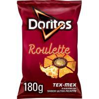 Nachos de maíz sabor a queso-chile DORITOS Roulette, bolsa 180 g