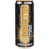 Bebida energética BOOSTER Zero, lata 33 cl