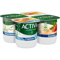 Activia 0% cremoso multifruta DANONE, pack 4x120 g