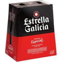 Cerveza especial ESTRELLA GALICIA, pack botellín 6x25 cl