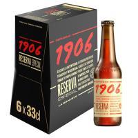 Cerveza ESTRELLA GALICIA 1906, pack botellín 6x33 cl