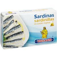 Sardina sardinilla vegetal VIGILANTE, lata 65 g