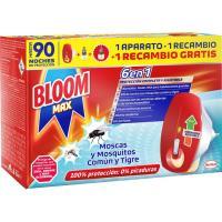 Insecticida eléctrico moscas-mosq. BLOOM MAX, aparato + 2 rec.