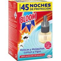 Insecticida eléctrico moscas-mosq. BLOOM MAX, recambio 1 unid.