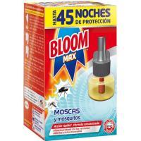 Insecticida eléctrico moscas-mosq. BLOOM MAX, recambio 1 ud