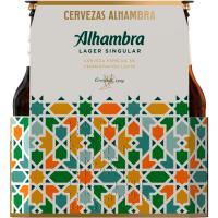 Cerveza ALHAMBRA Larger, pack botellín 6x25 cl