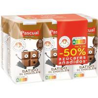 Batido sabor a chocolate PASCUAL, brik 6x200 ml