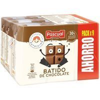 Batido de chocolate PASCUAL, pack 9x200 ml
