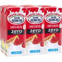 Lactozumo funciona sabor melón-sandía DON SIMON, pack 6x200 ml
