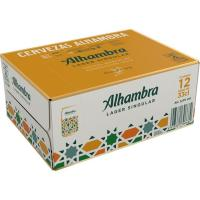 Cerveza Especial ALHAMBRA, pack lata 12x33 cl
