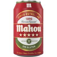 Cerveza sin gluten MAHOU, lata 33 cl