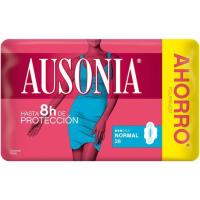 Compresa normal con alas AUSONIA Air Dry, paquete 38 uds