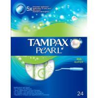 Tampón super TAMPAX Pearl, caja 24 uds