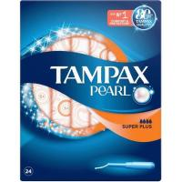 Tampón superplus TAMPAX Pearl, caja 24 uds