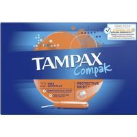 Tampón super plus TAMPAX Compak, caja 22 uds