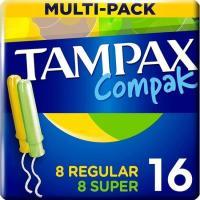 Tampon multipack TAMPAX Compak, caja 16 unid.