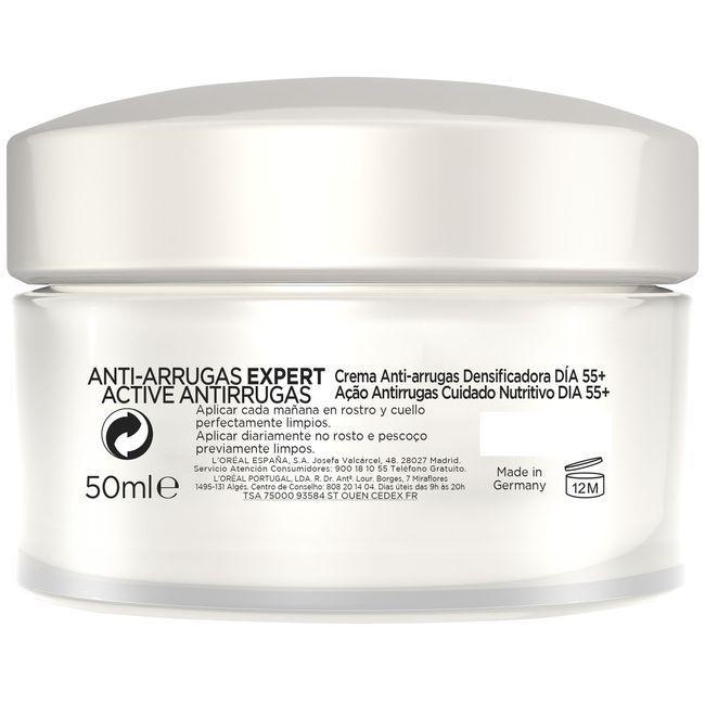 Crema hidratante pieles maduras +55 L`OREAL, tarro 50 ml