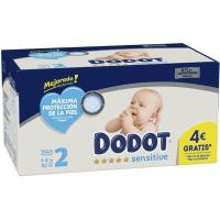 Pañal 4-8 kg Talla 2 DODOT Sensitive, paquete 92 uds.