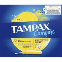Tampón regular TAMPAX Compak, caja 22 unid.