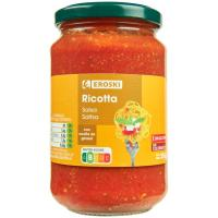 Salsa ricotta EROSKI, frasco 350 g